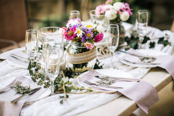 a photo of a table from the day of wedding coordinator service by Designed Dream